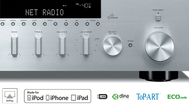 YAMAHA R-N 500 - síťový receiver s AirPlay a DLNA